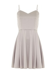 Mela Loves London Strappy Skater Dress Grey