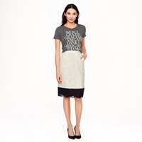 J.Crew Collection Colorblock Lace Pencil Skirt