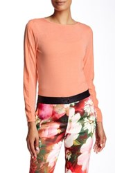 Ted Baker Asteea Crew Neck Long Sleeve Tee Orange