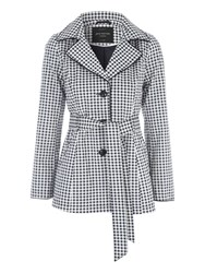 Jane Norman Gingham Mac Jacket Multi Coloured