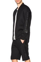 Helmut Lang Sponge Fleece Logo Bomber In Black