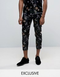 Reclaimed Vintage Brocade Trousers Black