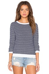 Shae Mix Stitch Pullover Sweater Blue