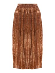 Therapy Afia Bronze Pleated Skirt Bronze