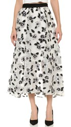 Lela Rose Full Skirt Ivory Black