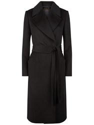 Jaeger Wool Wrap Coat Black