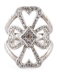 Loree Rodkin Diamond Maltese Cross Ring Metallic