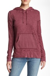 Lucky Brand Gauze Mix Hoodie Red