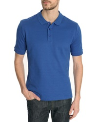 Carven Interlock Royal Blue Short Sleeve Polo