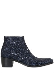 Simon Fournier 50Mm Glittered Leather Ankle Boots
