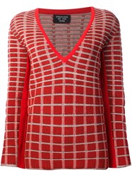 Creatures Of The Wind 'Kohei' V Neck Jumper Red