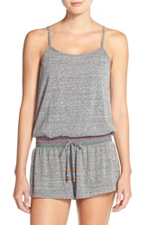 Lucky Brand Cover Up Romper Heather Grey