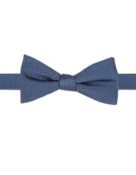 Vince Camuto Geometric Silk Bow Tie Blue
