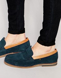 Farah Sterling Suede Loafers Blue