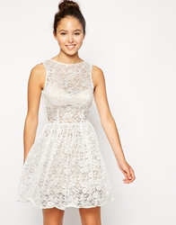 American Apparel Sleeveless Lace Dress Ivoryleafflower