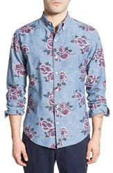Men's Bonobos 'Twilight Floral' Slim Fit Chambray Sport Shirt