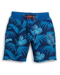Little Marc Jacobs Terry Lined Jungle Shorts Blue