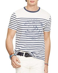 Polo Ralph Lauren Striped Anchor Graphic Slim Fit Tee Nevis Rust