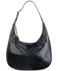 Nine West Patchworks Hobo Black