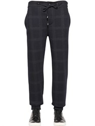 Etro Checked Wool And Cotton Jersey Pants
