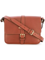 Alexandre Mareuil Buckled Crossbody Bag Brown