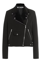 Mcq By Alexander Mcqueen Biker Jacket With Wool Black