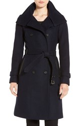 Mackage Women's Wool Blend Military Coat Navy