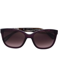 Lanvin Square Frame Sunglasses Pink And Purple