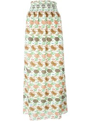 Tory Burch Printed Maxi Skirt Nude And Neutrals