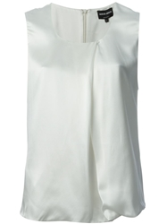 Giorgio Armani Scoop Neck Tank Top White