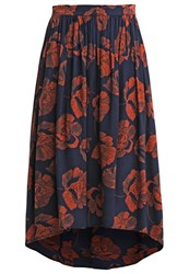 Soaked In Luxury Mia Maxi Skirt Navy Coral