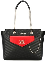 Love Moschino Pouch Detail Tote Black
