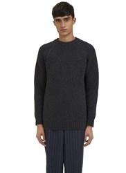 E.Tautz Raglan Sleeved Ribbed Knit Sweater Grey