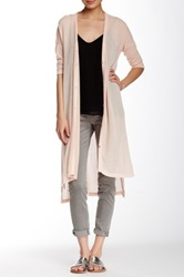Hip Duster Hi Lo Cardigan Juniors Pink