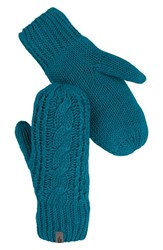 The North Face Women's Cable Knit Mittens Juniper Teal