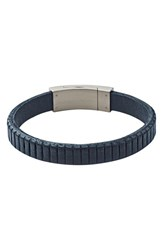 Men's Skagen 'Vinther' Leather Bracelet