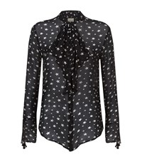 Denim And Supply Ralph Lauren Tie Neck Star Print Blouse Female Multi