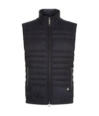 Stefano Ricci Quilted Silk Gilet Navy