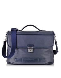 The Bridge By Pininfarina Leather Briefcase Navy Blue