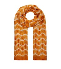 Eskandar Hand Dyed Shibori Silk Scarf Female Orange
