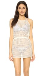 Milly Basket Weave Anacapri Cover Up Dress Natural