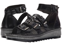 Naot Footwear Begonia Black Madras Leather Women's Sandals