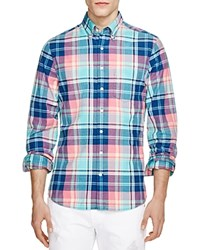 Gant Backspin Madras Slim Fit Button Down Shirt Teal