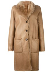 Joseph Panelled Coat Nude And Neutrals