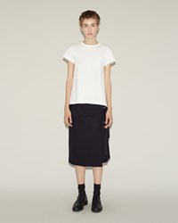 Sacai Melton Wool Skirt Navy