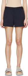 Viktor And Rolf Navy Pleated Shorts