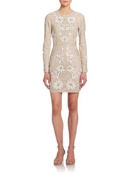 Needle And Thread Embellished Floral Mesh Dress Light Pink