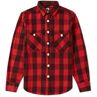 Sasquatchfabrix. Sasquatchfabrix Sashiko Block Check Shirt Red