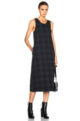 Engineered Garments Cotton Poplin Sun Dress In Green Checkered And Plaid Green Checkered And Plaid