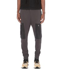 Blood Brother Loom Cotton Jersey Jogging Bottoms Grey